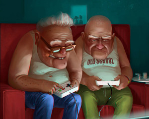 Los videojuegos son excelentes para la tercera edad