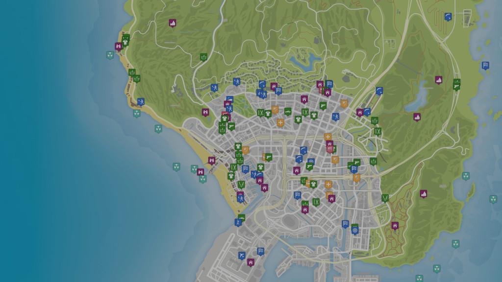 Lanzan mapa interactivo online de GTA V