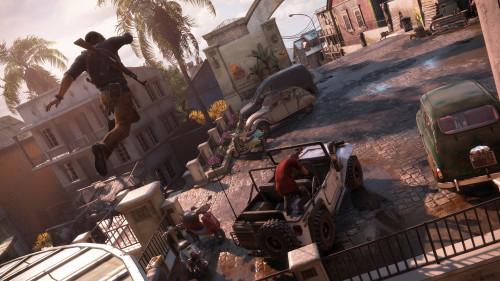 Uncharted 4: El Desenlace del Ladrón gameplay persecución de Sam