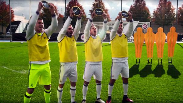El 'Real Madrid' prueba sus habilidades en un desafío estilo 'FIFA 17'