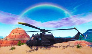 Un misterioso helicóptero sobrevuela el mapa de Fortnite